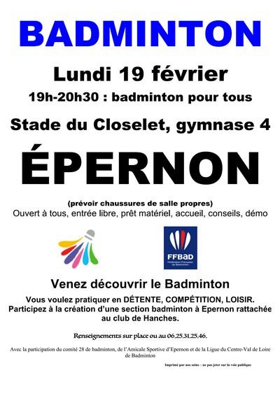 Badminton Epernon - La PLume de Gallardon - LPG28