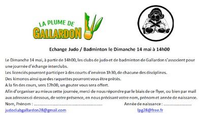 Echange Judo-Badminton - La Plume de Gallardon - LPG28