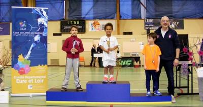 Natanael champion départemental mini-bad - La Plume de Gallardon - LPG28