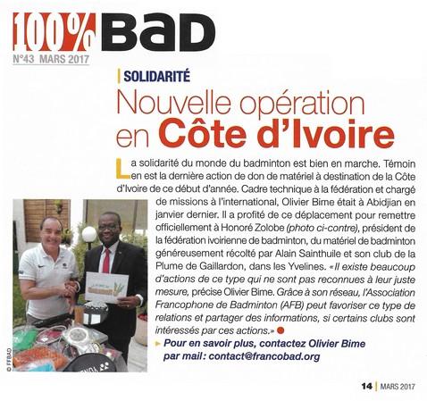 Nouvelle opération en Côte d'Ivoire - La Plume de Gallardon - LPG28
