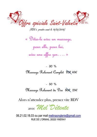Offre Saint-Valentin - La Plume de Gallardon - LPG28